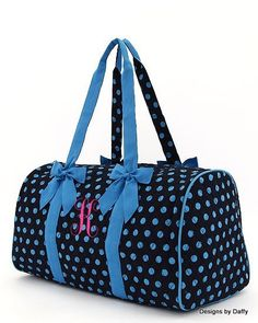 Monogrammed Quilted Duffle Bag by DesignsbyDaffy on Etsy, $35.95