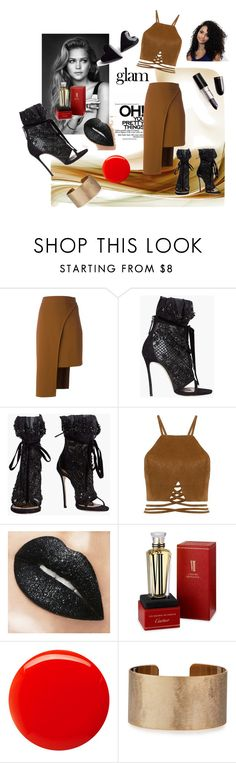 """""""Party"""" by women-miki ❤ liked on Polyvore featuring beauty, Naeem Khan, Cushnie Et Ochs, Dsquared2, Cartier, Balmain and Panacea"""