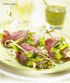 Tuna, Asparagus, Ham, Salad Recipes, Food And Drink, Low Carb, Fish, Snacks, Vegetables