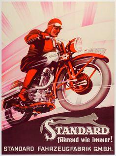Vintage /& Rétro Motos Abat-Jour Vieux Moto Posters Décalque