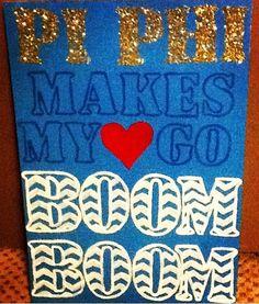 Pi Phi makes my heart go Boom Boom craft!