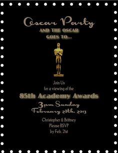 Party - Oscars on Pinterest | Oscar Party, Oscars and ...