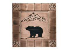 Handmade Tiles, Handmade Copper, Big Bear Cabin, Rustic Backsplash, Bear Decor, Celtic Tree Of Life, Dishwasher Detergent, Christmas Villages