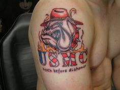 "Devil Dog USMC ""Death Before Dishonor"""