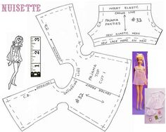Barbie Nightie pattern (shrink for MH and enlarge for MNF)