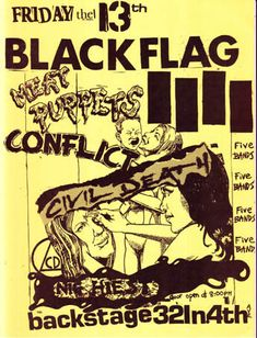 arizona hardcore punk rock flyer archive 1982-1984
