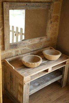 Waschtisch Holz, Waschbecken, Waschraum, Badezimmer Möbel,  Inneneinrichtung, Proberaum, Möbel Selber