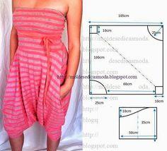 Mod@ en Line sewing pattern Diy Clothing, Clothing Patterns, Dress Patterns, Sewing Patterns, Diy Fashion, Ideias Fashion, Fashion Outfits, Fashion Design, Sewing Pants