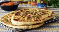 Recette naan pain indien à la viande hachée Aujourd'hui l'Inde s'est invitée chez moi avec The re...