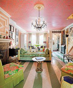 Pink & Green - Living