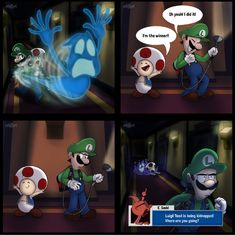 Mario Funny, Mario Memes, Super Mario And Luigi, Super Mario Art, Mario Brothers, Mario Bros, Super Smash Bros, Mario Comics, Luigi's Mansion 3