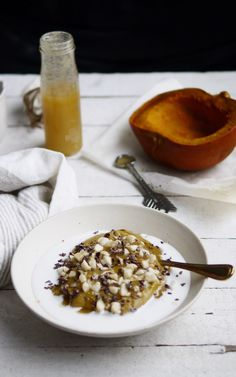 Pumpkin Buckwheat Porridge: With a half cup of pumpkin per serving, this high-fiber, energy-packed breakfast bowl will easily tide you over until lunch or beyond. And did you know this carotenoid-rich squash is filled with nutrients like vitamin C and potassium? Sprinkled with chocolate-y cacao nibs and crunchy macadamia nuts, you'll feel like you're eating dessert. By Vega recipe contributor: Erin Ireland