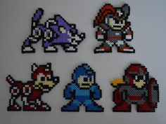 The Mega Man Power Fighters perler beads by MegaSparkster on DeviantArt