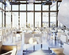 11 Must-Visit Spots for Your Next Trip to Paris   Located at the top of Centre Pompidou, Georges is truly one of the most gorgeous spots, especially for dinner. I love its single red roses on each dining table as well as the stunning views of the city.