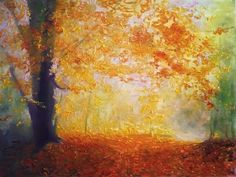 Autumn Trees in Painting by Hungarian Artist Gui Demeter