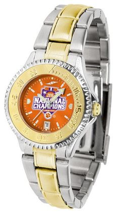 Clemson Tigers 2016 National Champions Competitor Ladies Two-Tone AnoChrome Watch