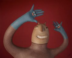 Comical Ceramic Figures Produced With Ancient Materials by Luciano Polverigiani | Colossal