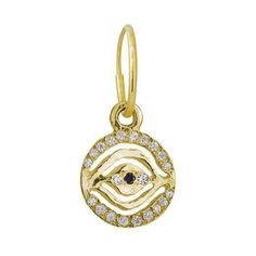 25610f5ce 18k Gold Pavé Eye of Horus Endless Hoop Charm Earring #LeeBrevard  #HouseOfBrevard Eye Of. Brevard