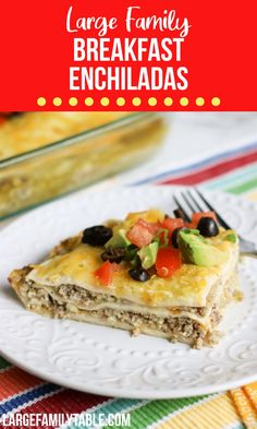 Breakfast Enchiladas Real Cooking, Breakfast Enchiladas, Green Enchilada Sauce, Good Food, Yummy Food, Large Group Meals, Sausage And Egg, Freezer Meals, Casserole Dishes