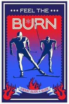 Retro motivational cross country ski poster by ArtBySassanFilsoof Vintage Ski, Vintage Travel Posters, Nordic Skiing, Ski Racing, Ski Posters, Cross Country Skiing, Winter Is Here, Snow Skiing, Free Graphics