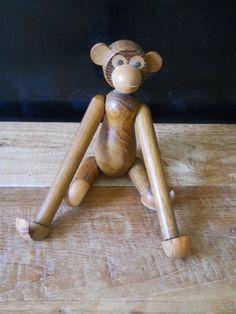 Vintage Japan Wooden Monkey