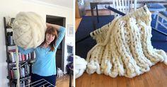 No, I'm Not Thumbelina. I Just Knit With Giant Needles And Yarn   Bored Panda