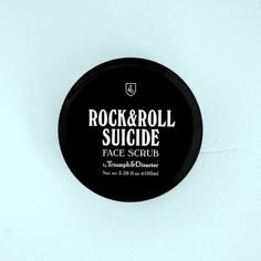 Triumph & Disaster - Rock & Roll Suicide Exfoliating Face Scrub - Volcanic ash acts as a natural abrasive and combines perfectly with green clay & kaolin for a deep exfoliation. Volcanic Ash, Green Clay, Clay Faces, Triumph, Layers Of Skin, Male Grooming, Grooming Kit, Exfoliant, Dead Skin