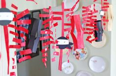 Easy ninja birthday party decorations that the kids can make ahead of time.