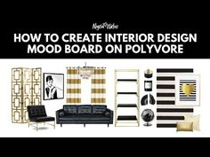 How To Create Interior Design On Polyvore - YouTube