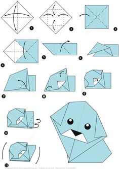 Vektor: step by step instructions how to make origami dog. Vektor: step by step instructions how to make origami dog. Related posts: How to fold origami fish. The wall of the Rainbow Koi – Step 17 Einfacher Origami Papierfisch Easy Origami Animals, Gato Origami, Instruções Origami, Origami Paper Folding, Kids Origami, Origami Ball, Origami Dragon, Origami Bookmark, Origami Fish