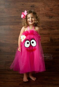 Yo Gabba Gabba Foofa Inspired Tutu Dress for by shoppe3130 on Etsy, $30.00 Buggy's Halloween costume! :D