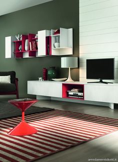 Living room shelves on pinterest dining room modern for Element system mensole
