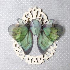 I Will Fly Away  Handmade Silk Organza Aqua Light Teal