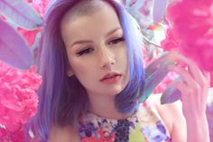 Blueish-Purple Bob   https://www.facebook.com/pages/Mondkind/315847191836621