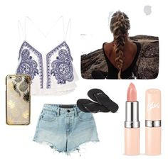 """Untitled #3"" by elvira-v on Polyvore featuring River Island, T By Alexander Wang, Skinnydip and Havaianas"