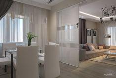 Квартира на Лескова Small Apartment Living, Small Apartments, Living Spaces, Living Room Interior, Living Room Decor, Living Room Goals, Stylish Home Decor, Modern Kitchen Design, Ceiling Design