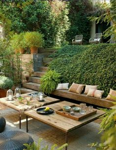 Garden chill out area