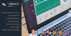 Minovate - Angular Admin Dashboard - Admin Templates Site Templates