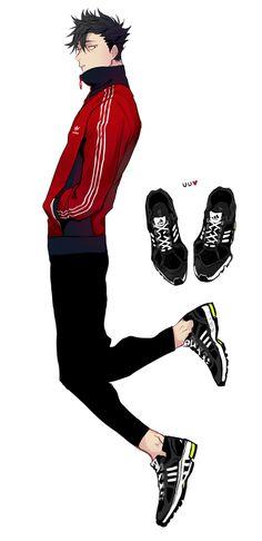내 져지가 네코마져지로 오해받은 기념으로 쿠로오에게 입힌다. 신발도 신긴다.