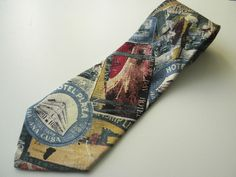 America Mens Silk Neck Tie Made in Italy Travel Hotel Post Cards #America #NeckTie