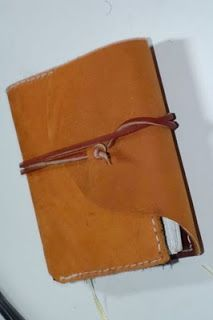 crutch activity: DIY Refillable Leather Journal Cover