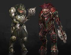 Dragon Effect- Grunt and Wrex by ~AndrewRyanArt on deviantART