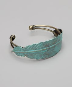 Turquoise Feather My Tribe Cuff | Daily deals for moms, babies and kids