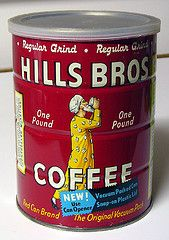 Vintage Hills Bros. Coffee can