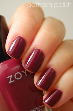 Fall color crush: Zoya Nail Polish in Toni Love Nails, How To Do Nails, Pretty Nails, Fun Nails, Zoya Nail Polish, Nail Polish Colors, Manicure Y Pedicure, Nail Candy, Professional Nails