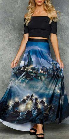 Great Lake Maxi Skirt - Halls of Hogwarts - Collections Nerd Fashion, Fandom Fashion, Fashion Outfits, Steampunk Fashion, Gothic Fashion, Disney Fashion, Emo Outfits, Lolita Fashion, Fashion Ideas