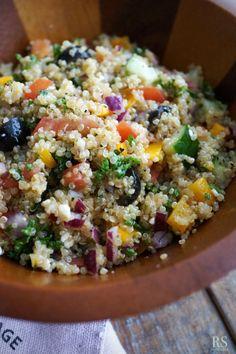 퀴노아 샐러드 / 지중해식 그리스 샐러드 : 네이버 블로그 Raw Food Recipes, Asian Recipes, Cooking Recipes, Healthy Recipes, Korean Side Dishes, Greek Quinoa Salad, Quinoa Salat, Salad Dishes, Asian Cooking