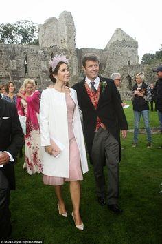 Crown Princess Mary and Crown Prince Frederik attended the wedding of Irish actress Flora Montgomery and Danish restauranteur Soren Jessen, Northern Ireland, August 30, 2014
