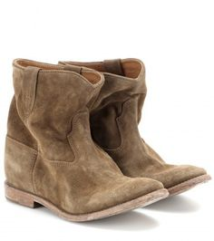 Isabel Marant Crisi Suede Concealed Wedge Ankle Boots on shopstyle.com.au