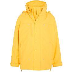 Vetements Angela hooded layered shell jacket ($3,150) ❤ liked on Polyvore featuring outerwear, jackets, punk rock jacket, punk jacket, structure jacket, drawstring jacket and hooded jacket